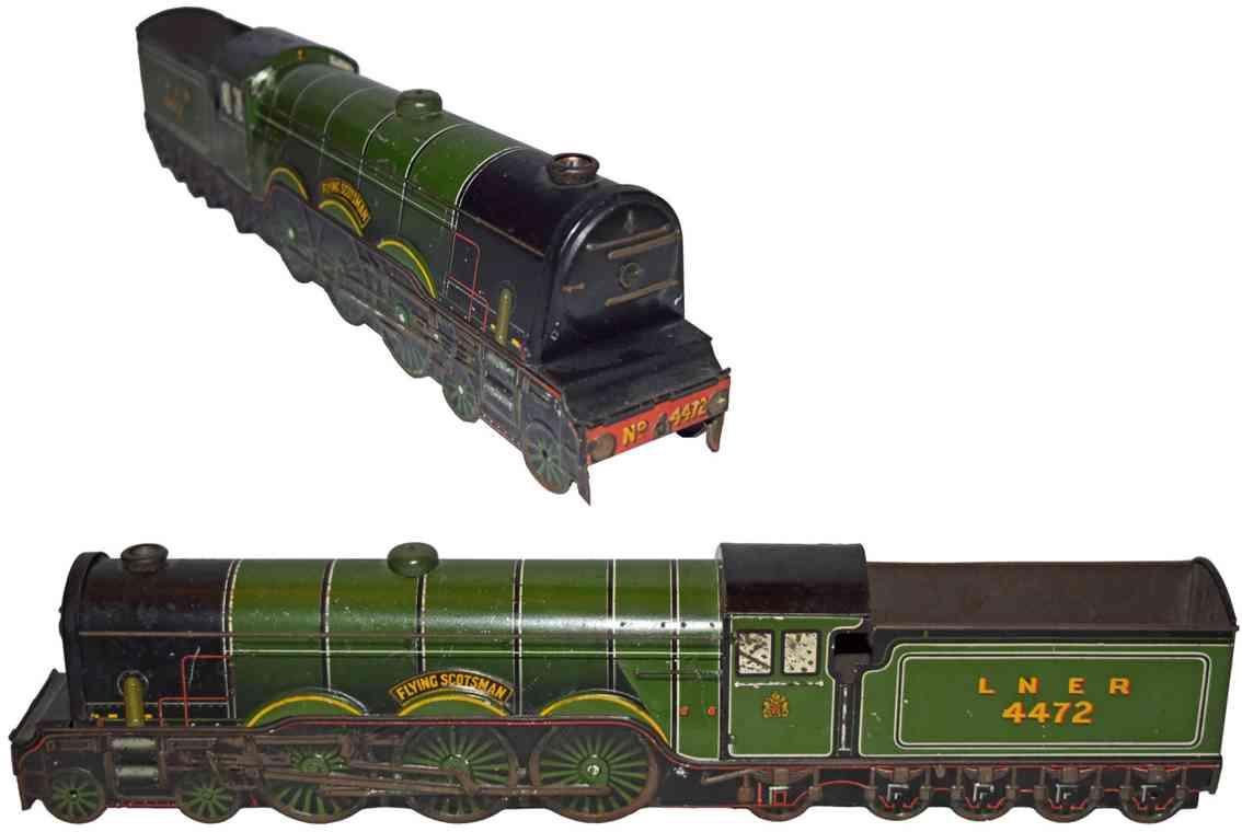 crawford william & sons 4472 spielzeug eisenbahn lokomotive flying scotsman blech gruen und schwarz