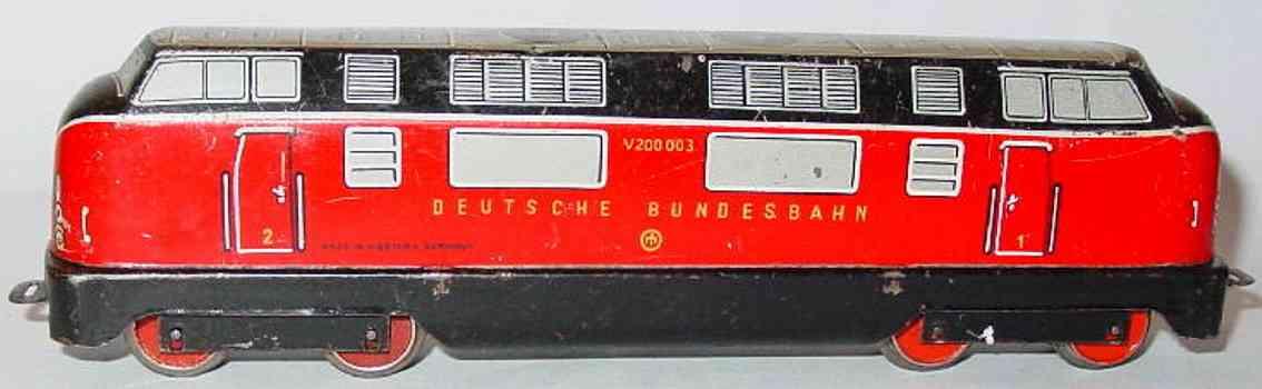distler,johann 507l v 200 003 spielzeug eisenbahn diesellokomotive schwarz rot weiss spur h0