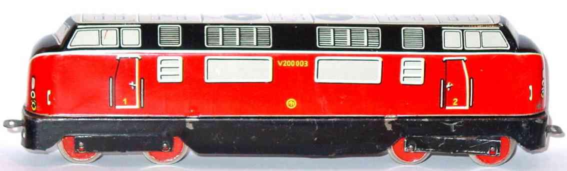 distler johann 507l v 200 003 spielzeug eisenbahn diesellokomotive schwarz rot weiss spur h0