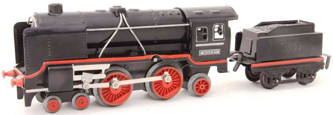 distler johann 26lk 40281 cast wheels railway toy engine clockwork steam locomotive gauge 0