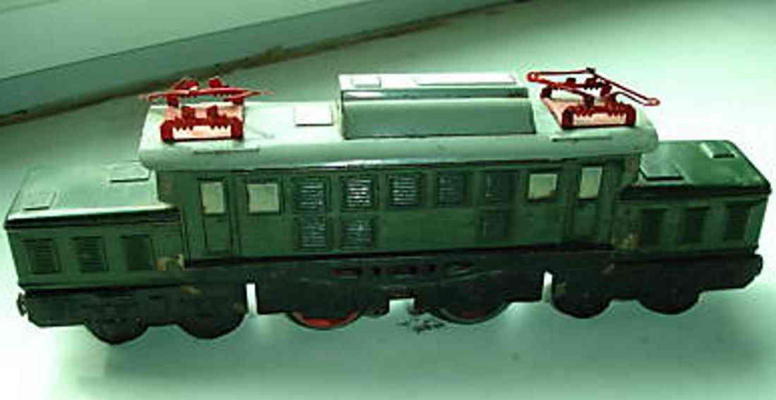 distler spielzeug eisenbahn elektrolokomotive b2b gruen spur 0