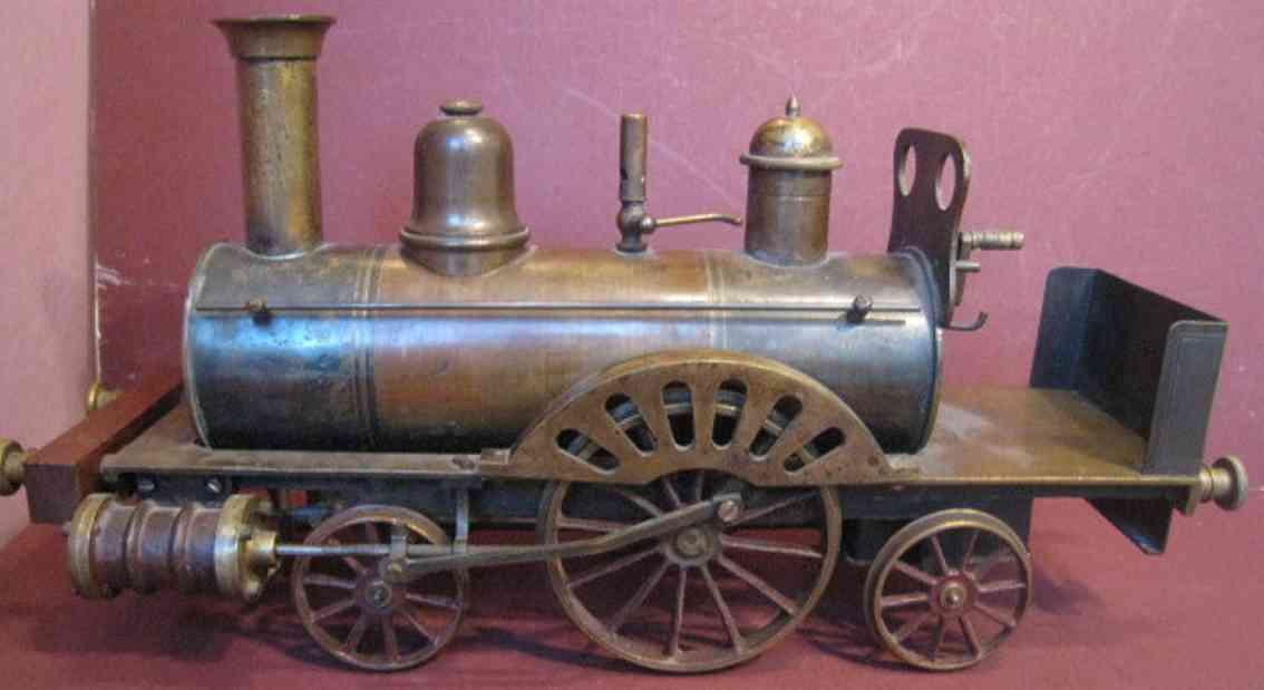 dockyard steve spielzeug eisenbahn lokomotive echtdampflokomotive 4-2-2, spur 80 mm