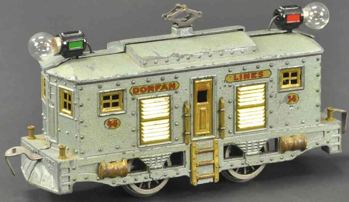 dorfan 54 spielzeug eisenbahn elektro-lokomotive silberblau