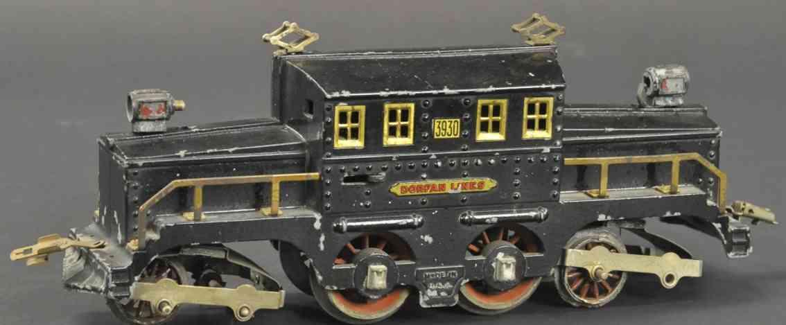 dorfan 3930 spielzeug eisenbahn lokomotive schwarz eleketrolokomotive wide gauge