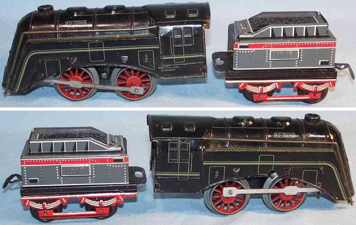 dressler konrad railway toy clockwork steam engine 72040 tender 1518