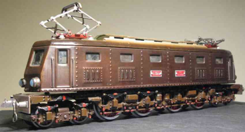elettren railway toy engine electric locomotive brown