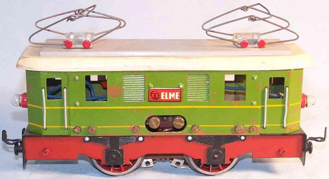 elme spielzeug eisenbahn elektrolokomotive grün spur 0