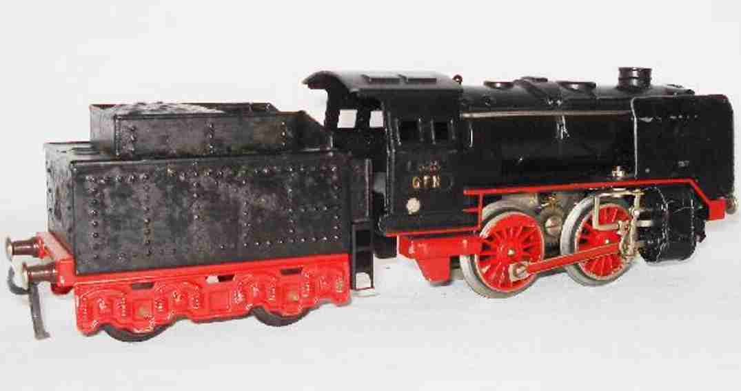 fleischmann railway toy engine dragging tender locomotive e 325 gauge 0