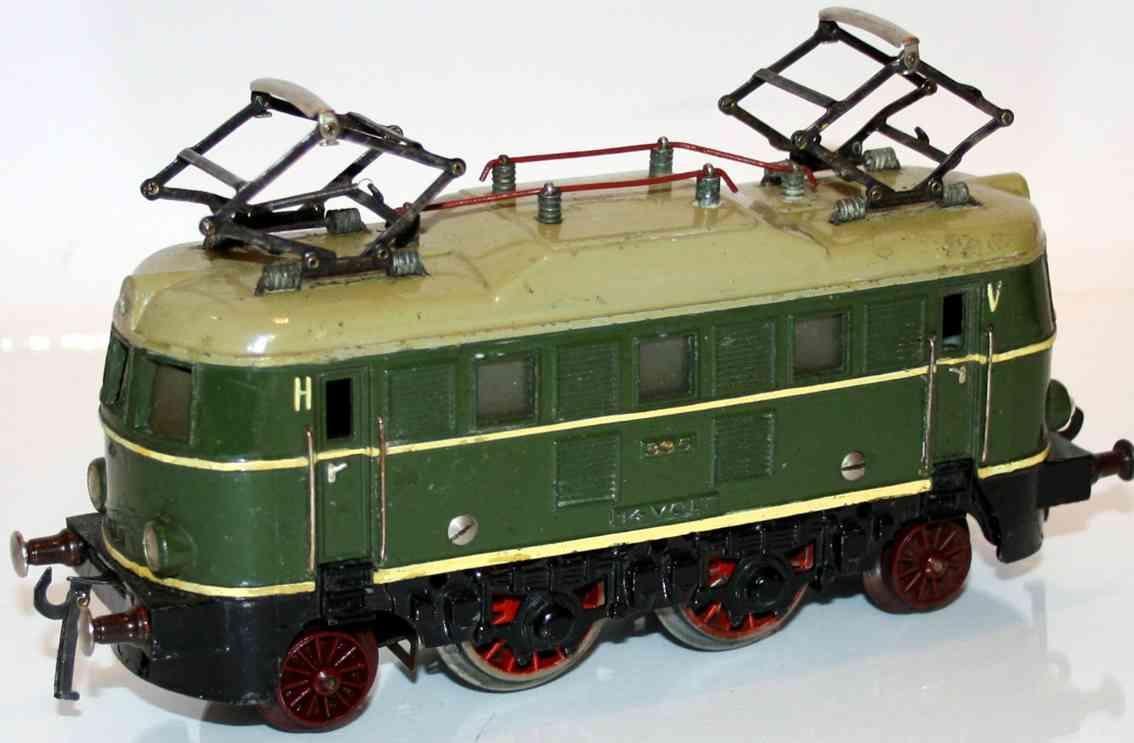 fleischmann railway toy engine electric locomotive e 335 green gauge 0