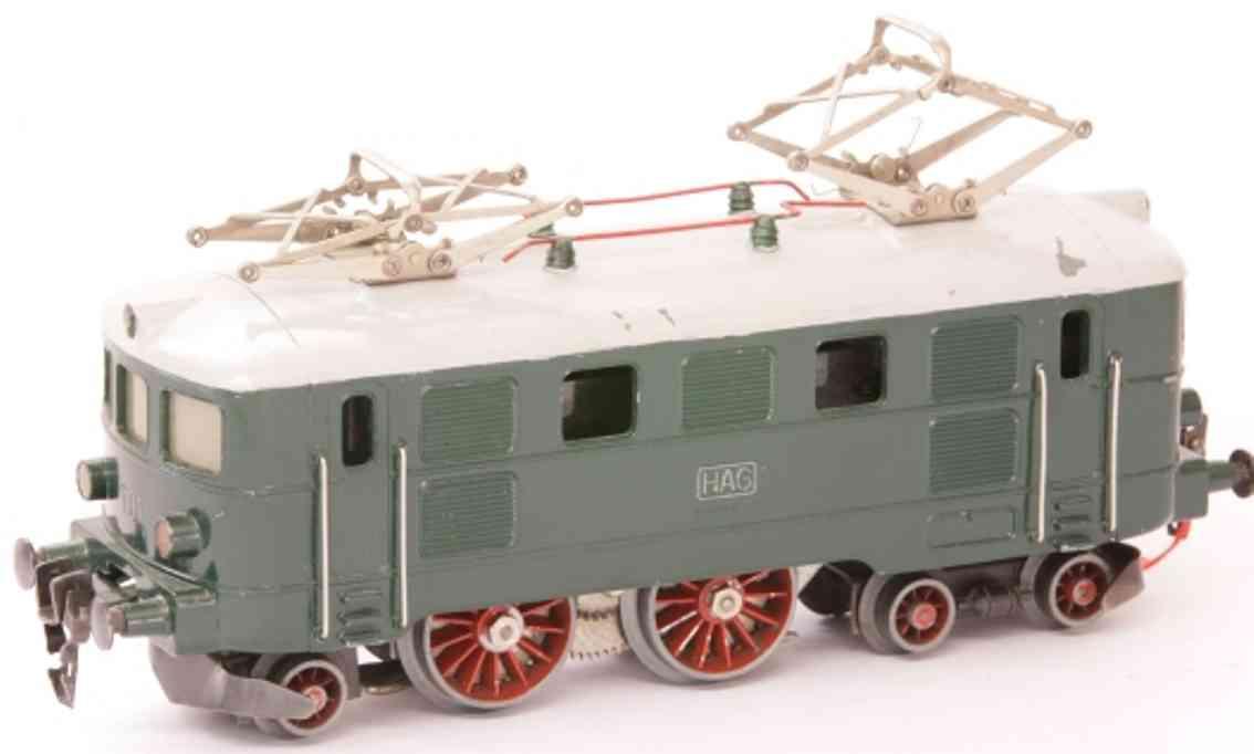 hag 520.03 spielzeug eisenbahn 20 volt elektrolokomotive gruen grau spur 0