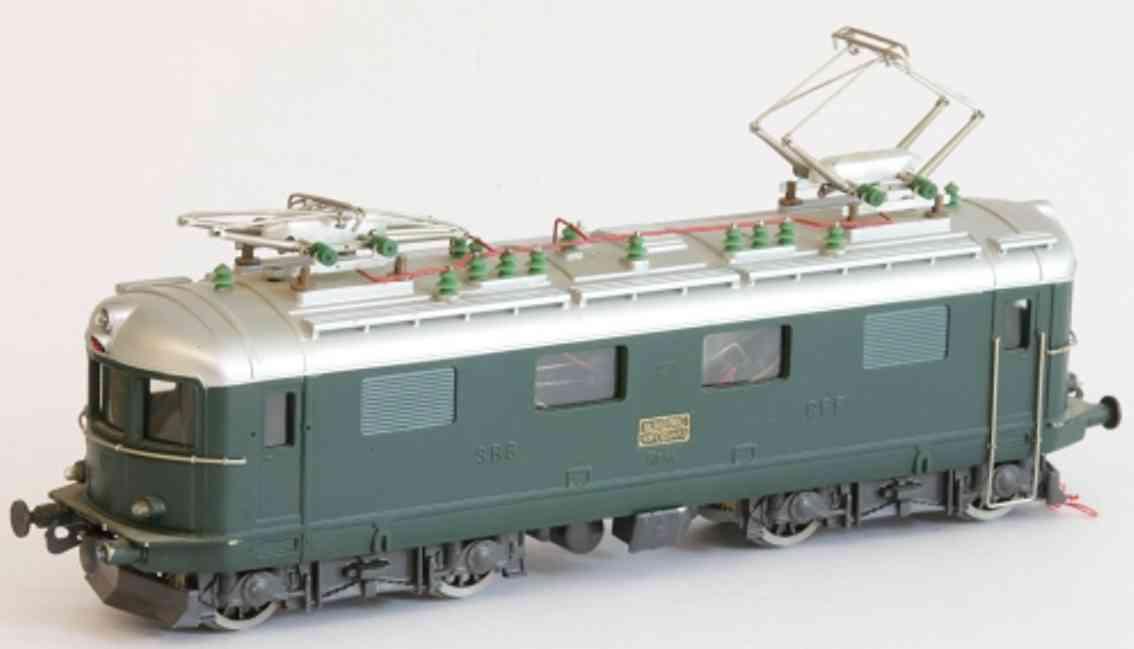 hag spielzeug eisenbahn lokomotive werkstattmodell, 20 volt elektrolokomotive bo'bo' re 4/4, in