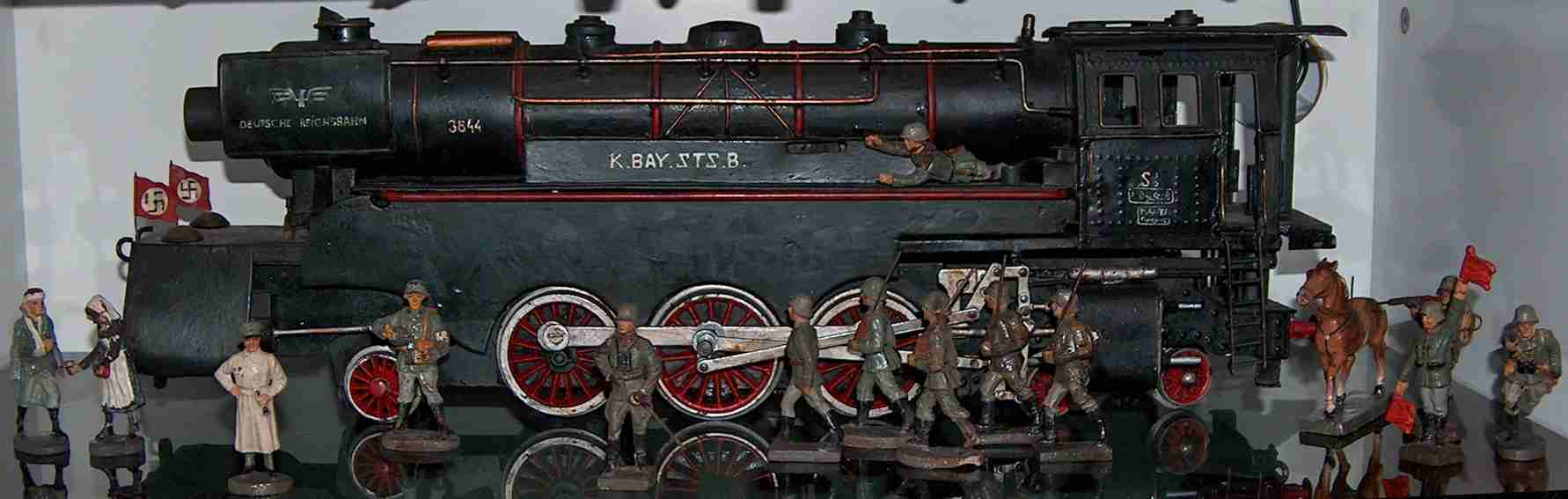 Hausser (Elastolin) Dampflokomotive