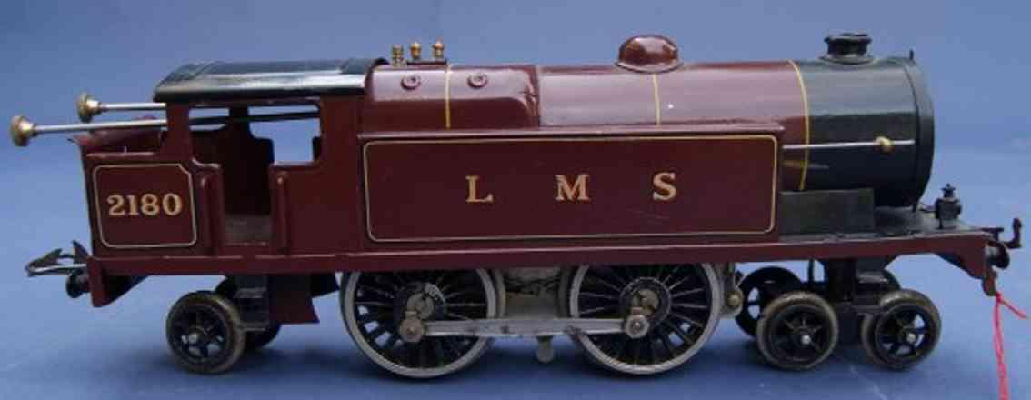 hornby 2 spielzeug eisenbahn lokomotive uhrwerktenderlokomotive 2'b2' in braunrot und schwarz, aufsc