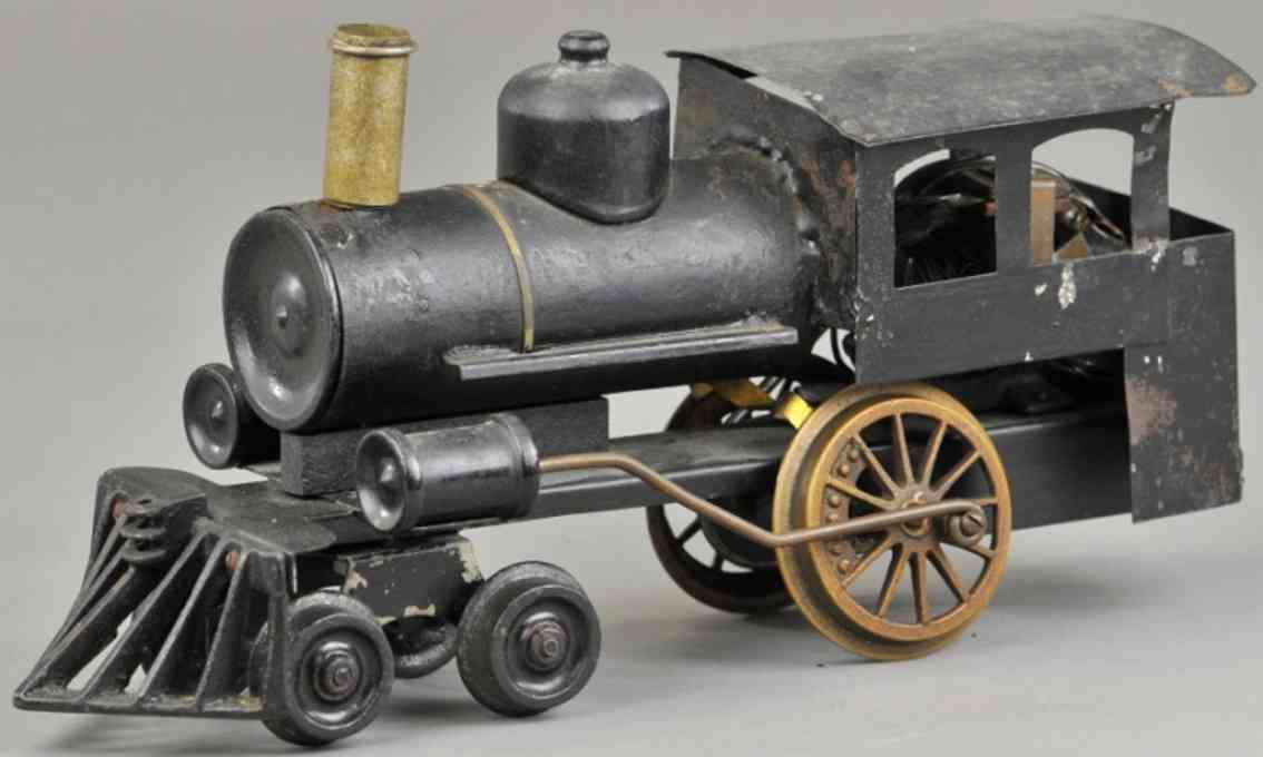 howard electric novelty company 6 railway toy engine locomotive black