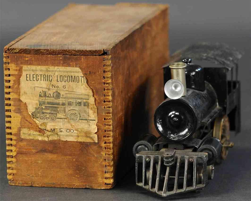 howard electric novelty company 6 nyc & prr railway toy engine locomotive black