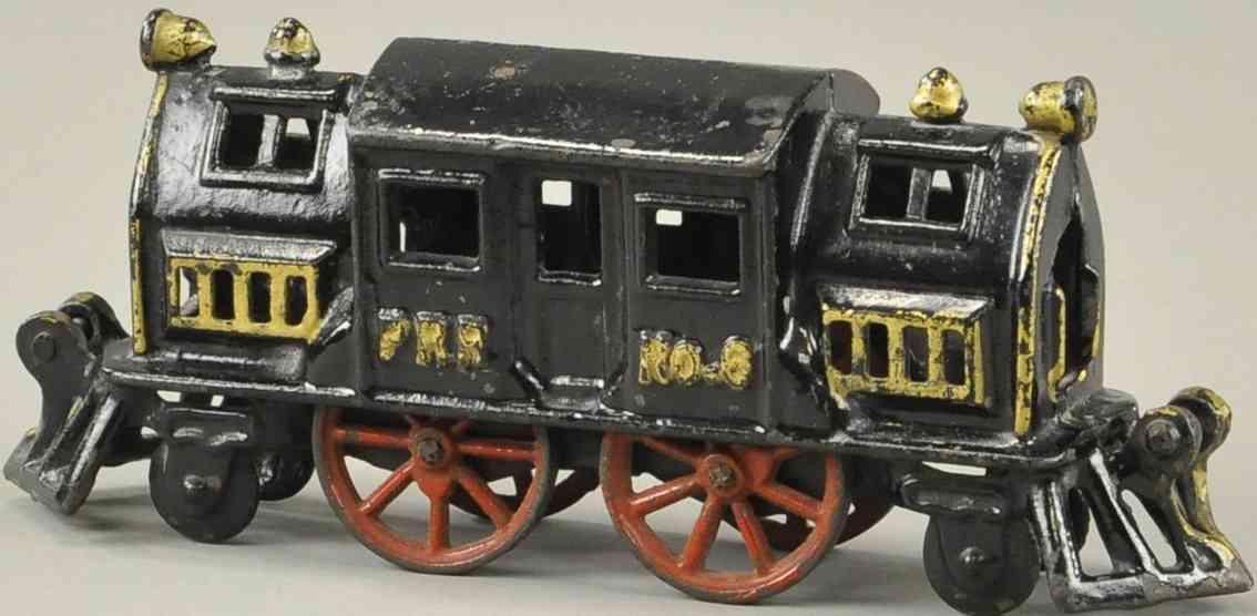 hubley 6 spielzeug eisenbahn lokomotive gusseisen pennsylvania rr schwarz