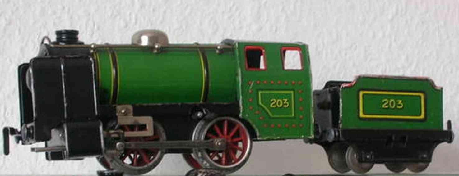 husch 203 spielzeug eisenbahn lokomotive uhrwerklokomotive hellgrün