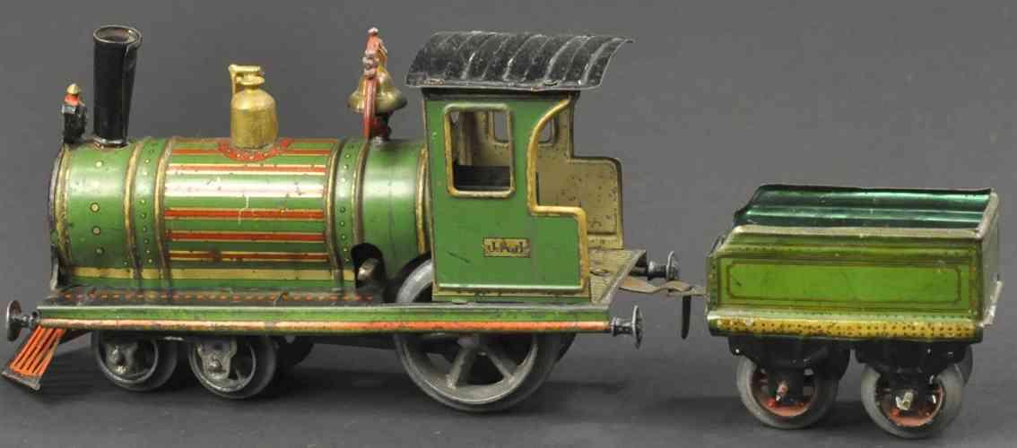 issmayer amerikanische uhrwerk-lokomotive tender spur 0