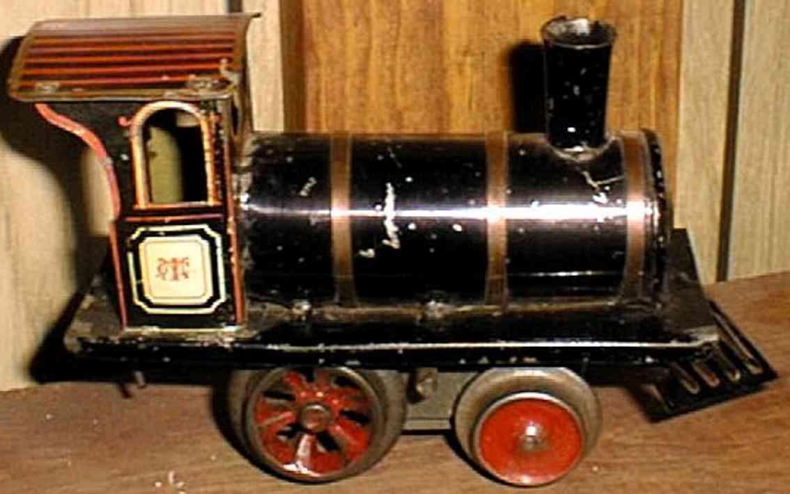 ives 0 1903 spielzeug eisenbahn lokomotive uhrwerklokomotive schwarz spur 0