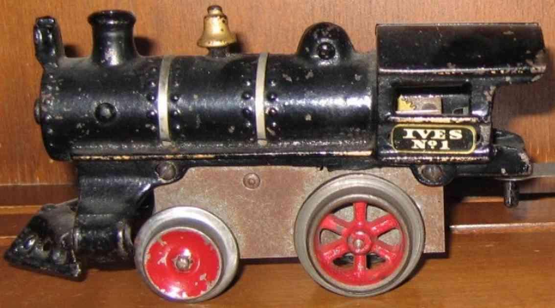ives 1 1910 spielzeug eisenbahn uhrwerklokomotive gusseisen schwarz spur 0