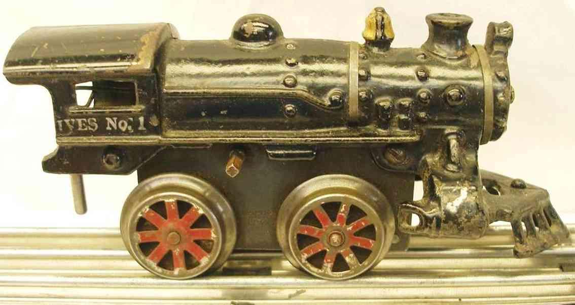 ives 1 1923 spielzeug eisenbahn uhrwerklokomotive gusseisen schwarz spur 0