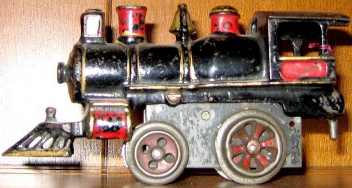 ives 11 spielzeug eisenbahn uhrwerklokomotive gusseisen schwarz spur 0