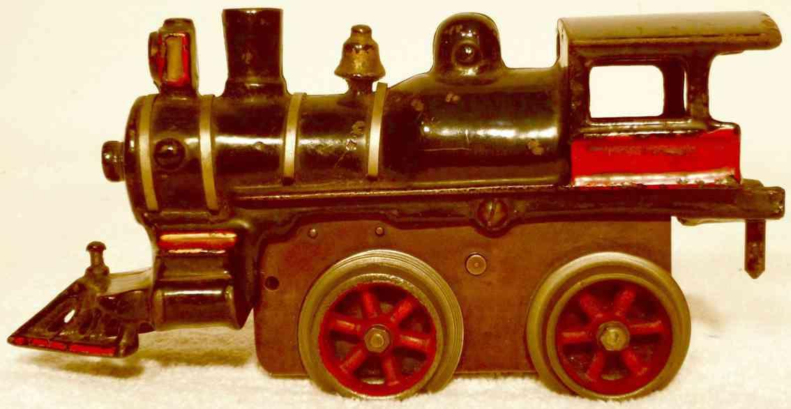ives 11 1906 spielzeug eisenbahn uhrwerklokomtoive gusseisen schwarz spur 0