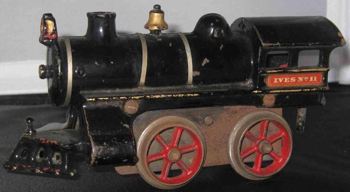 ives 11 1908 spielzeug eisenbahn uhrwerklokomotive aus gusseisen schwarz