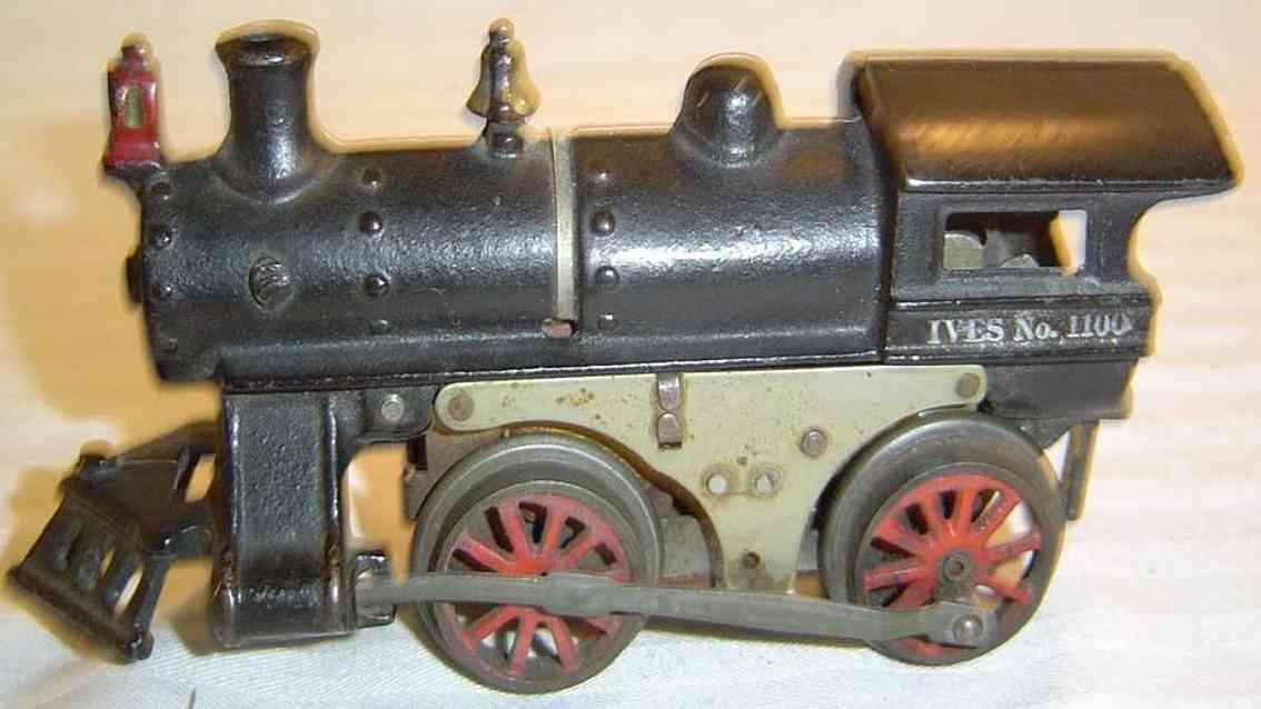 ives 1100 1915  spielzeug eisenbahn dampflokomotive in schwarz spur 0