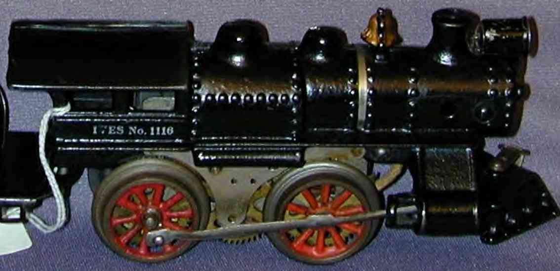 ives 1116 spielzeug eisenbahn dampflokomotive in schwarz spur 0