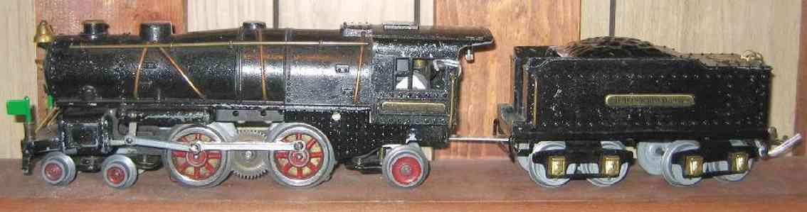 ives 1122 spielzeug eisenbahn dampflokomotive aus gusseisen in schwarz spur 0