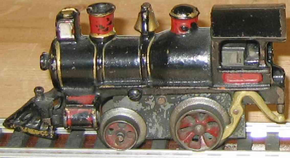 ives 17 1901 spielzeug eisenbahn dampflokomotive mit uhrwerk gusseisen schwarz spur 0