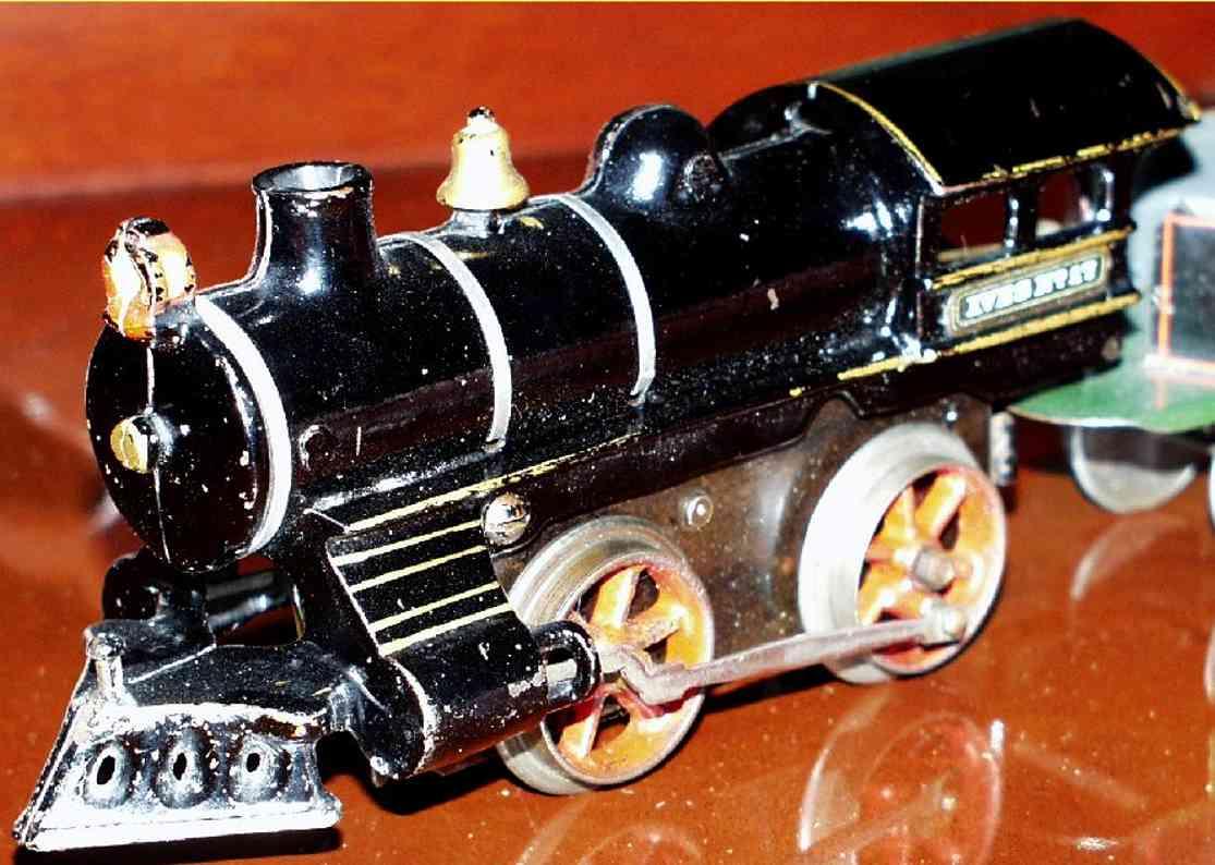 ives 17 1910 eisenbahn uhrwerklokomotive gusseisen schwarz spur 0