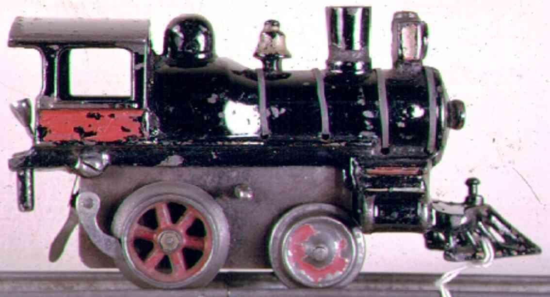ives 17 1903 spielzeug uhrwerklokomotive gusseisen schwarz spur 0