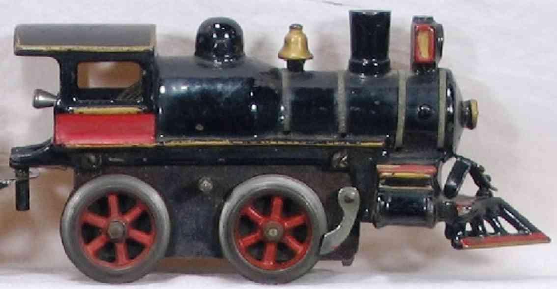 ives 17 1905 spielzeug uhrwerklokomotive gusseisen schwarz spur 0