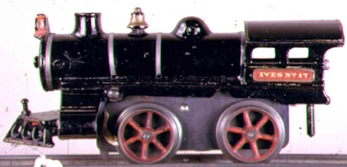 ives 17 1908 eisenbahn uhrwerklokomotive gusseisen schwarz spur 0
