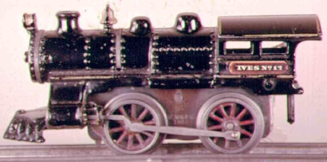ives 17 1912 spielzeug eisenbahn uhrwerklokomotive gusseisen schwarz spur 0