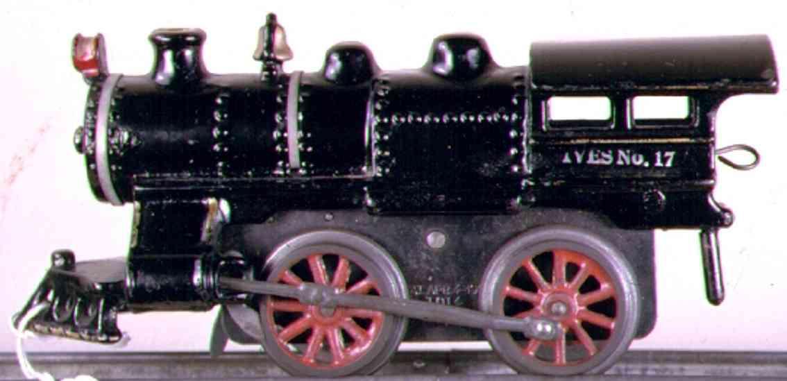ives 17 1915 spielzeug eisenbahn uhrwerklokomotive gusseisen schwarz spur 0