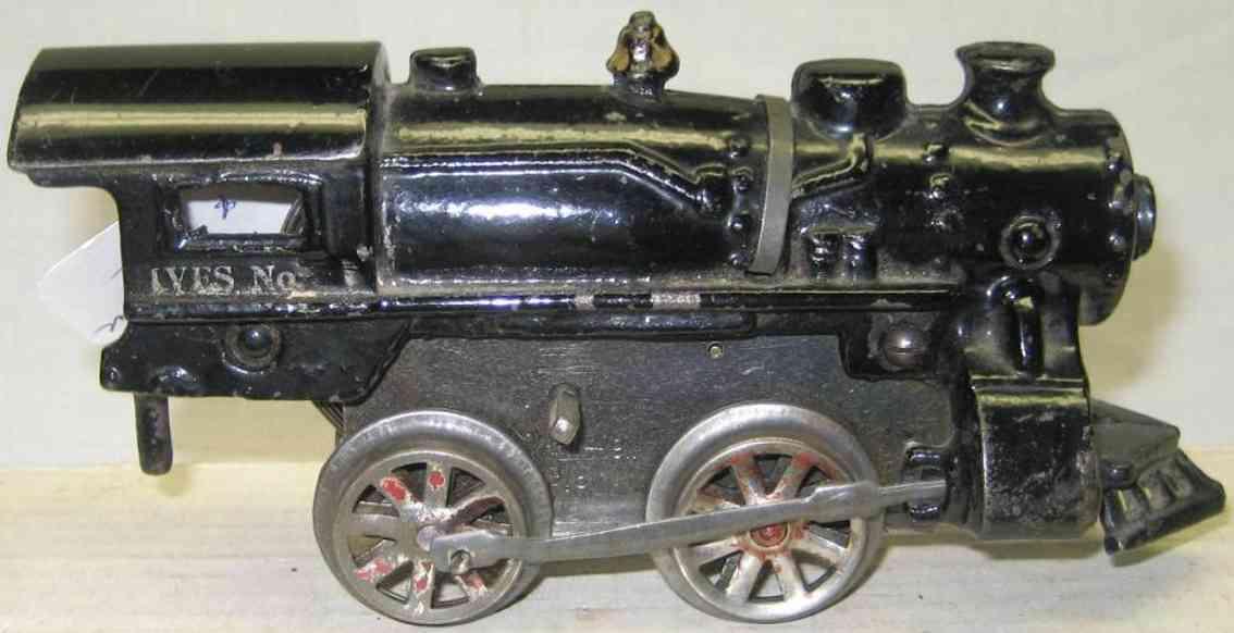 ives 17 1917 spielzeug eisenbahn uhrwerklokomotive gusseisen schwarz spur 0