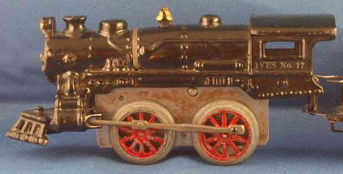 ives 17 1926 spielzeug eisenbahn uhrwerklokomotive gusseisen schwarz spur 0