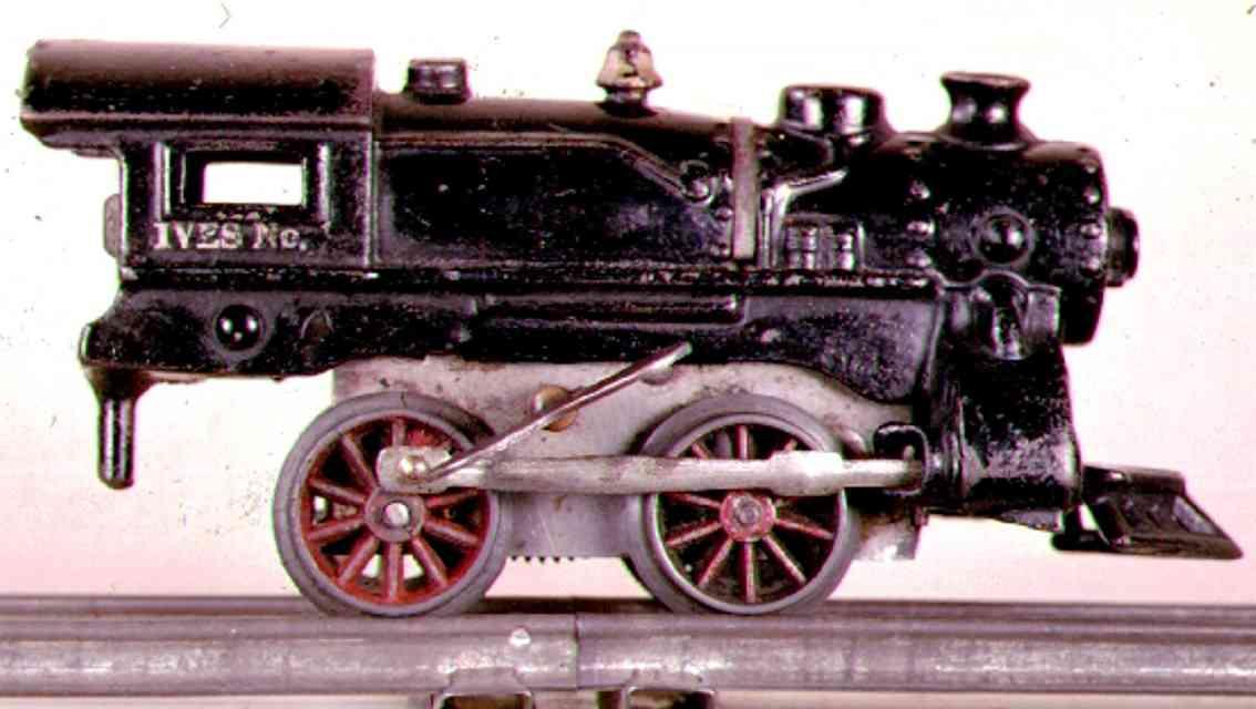 ives 17 1929 spielzeug eisenbahn uhrwerklokomotive gusseisen schwarz spur 0