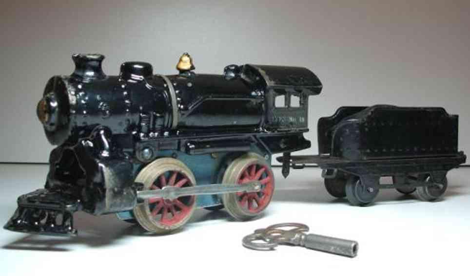 ives 18 uhrwerk-dampflokomotive mit tender 017