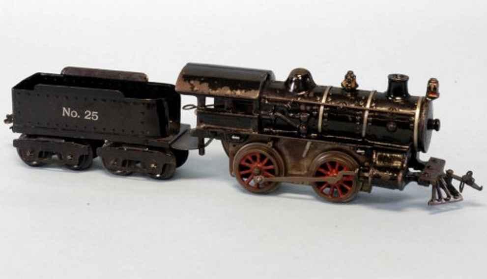 Ives 20 Lokomotive und Tender aus Gusseisen