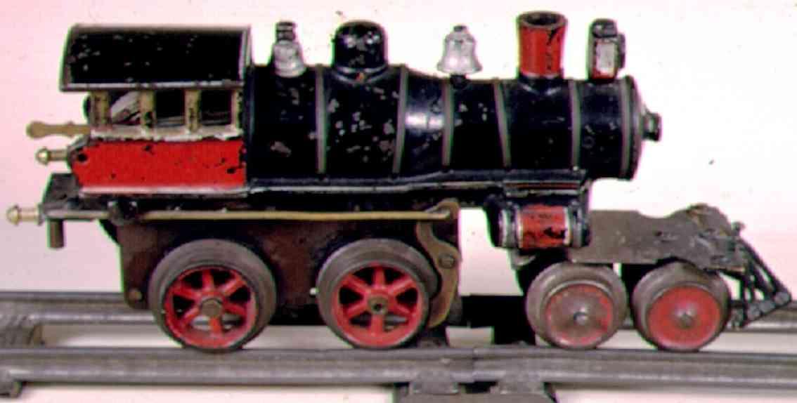 ives 25 eisenbahn uhrwerklokomotive gusseisen schwarz spur 0