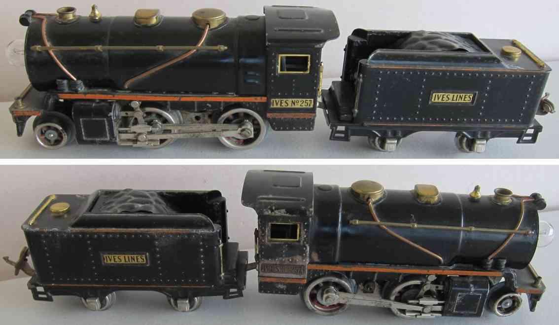 ives 257 spielzeug eisenbahn dampflokomotive mit tender spur 0
