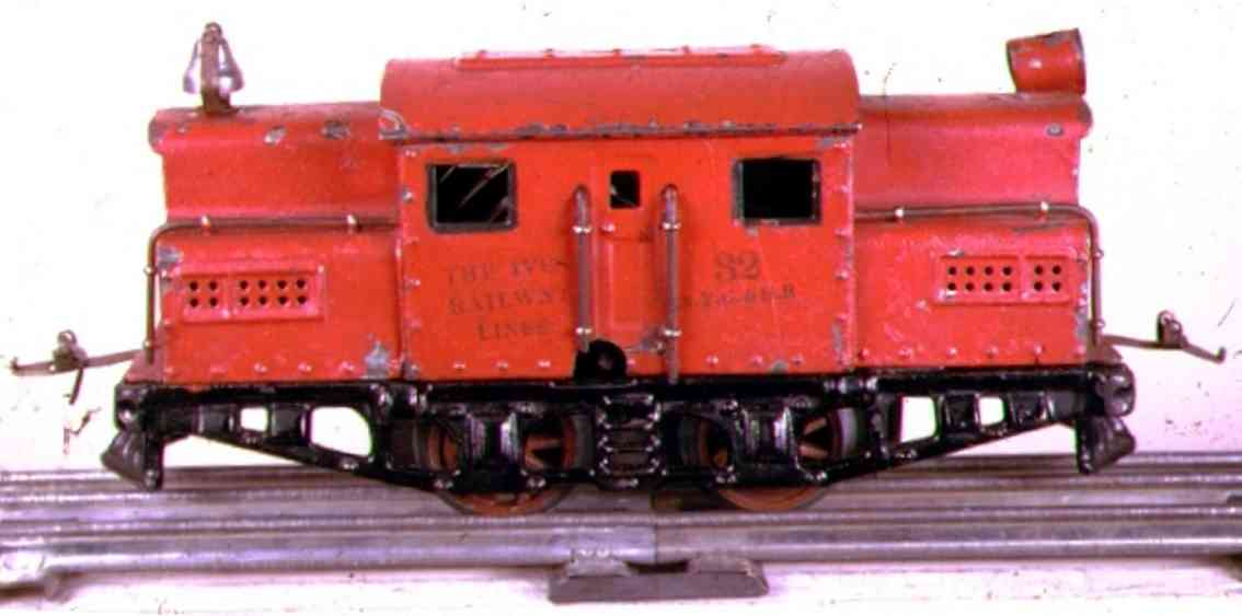ives 32 1923 eisenbahn uhrwerk-elektrolokomotive rot 32 nyc & hr spur 0