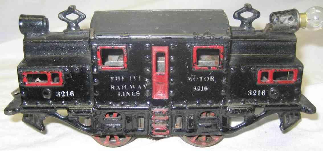 ives 3216 spielzeug eisenbahn elektrolokomotive gusseisen schwarz