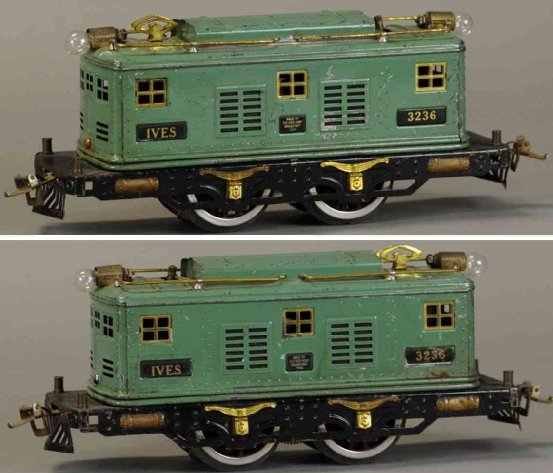 ives 3236 eisenbahn elektrolokomotive gruen schwarz wide gauge