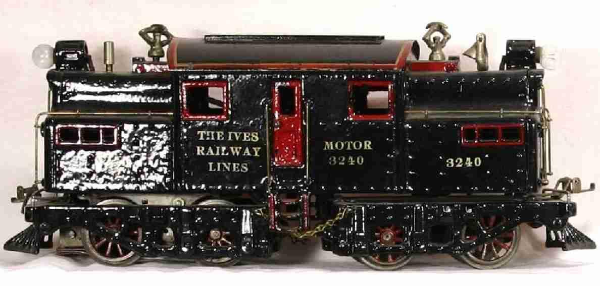 ives 3240 spielzeug eisenbahn elektrolokomotive schwarz 2 lampen spur 1