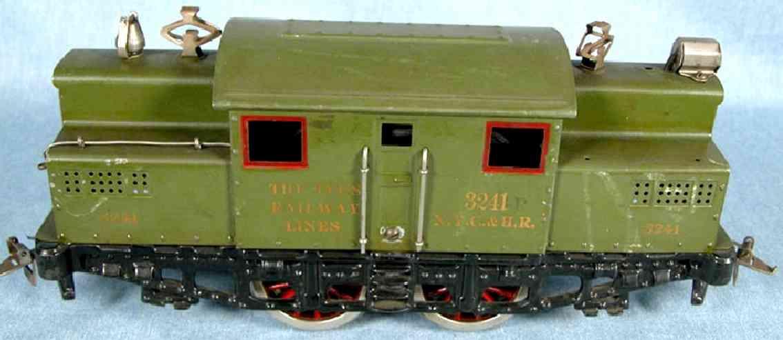 ives 3242 1924 engine electric locomotive in green  3241 nyc & hr wide gauge